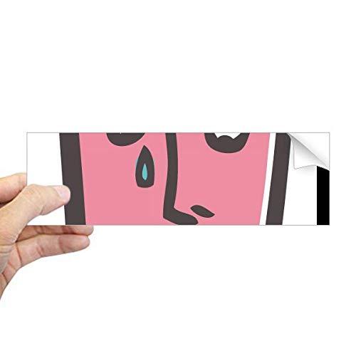 DIYthinker Triest Abstract Gezicht Schets Emoji Rechthoek Bumper Sticker Notebook Venster Sticker