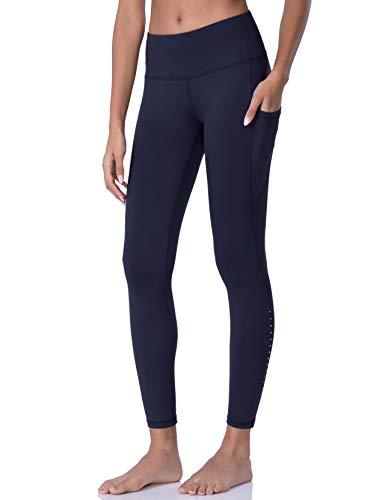 POSHDIVAH Pantalones de Yoga con Bolsillo para Mujer - Azul - Medium