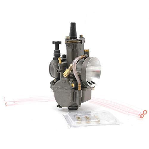 NVFED AlconStar 28 30 32 34 mm Carburador de carburador Carburador con Power Jet Fit en Motor de Carreras 4T Motor Bicicleta ATV (Color : Y 32mm ZSDTRP)