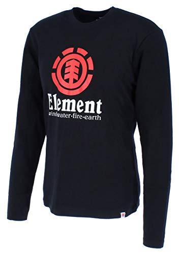 Element Vertical LS T-Shirts, Chemises et Polos Homme, Flint Black, FR : 2XL (Taille Fabricant : XXL)