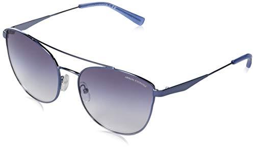 A|X Armani Exchange AX2032S - anteojos de sol de metal para mujer, sin polarización, color azul claro, 57 mm