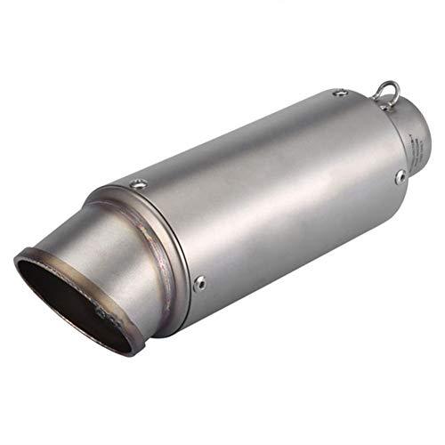 Moto Oblique universale 51 millimetri slip sul tubo di scarico posteriore del tubo dallo scarico del motociclo di scarico marmitta Nuovo Tubi e sistemi di scarico (Color : Silver)