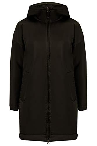 Finn Flare Damen Übergangsjacke mit dekorativer Schnürung Black, XXL (46/48)