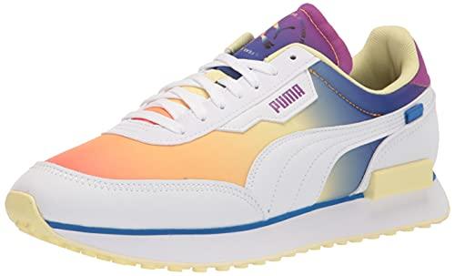 PUMA womens Future Rider Pride Sneaker, Puma White, 8.5 US