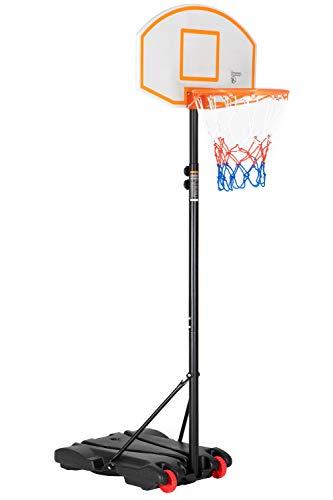 Ubon Portable Basketball Hoop&Goal Basketball Stand Height Adjustable 5.8FT-6.8FT with Wheels