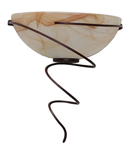 valfb36121 AP1 nr tourbillon Made en Italy Applique Lampe murale fer forgé noir/rouille Verre Albâtre Ambre éclairage d'intérieur produit de Valastro Lighting