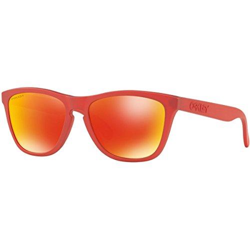 Oakley Frogskin Gafas de sol, Ovaladas, 0, Ir Red W/Prizm Ruby