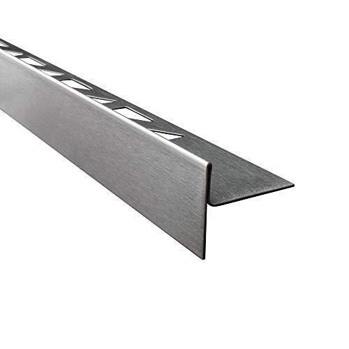 tktrading24 Dusch-, Keil-Profil Gefälleprofil begehbare Dusche gebürstet 10mm Links 150cm