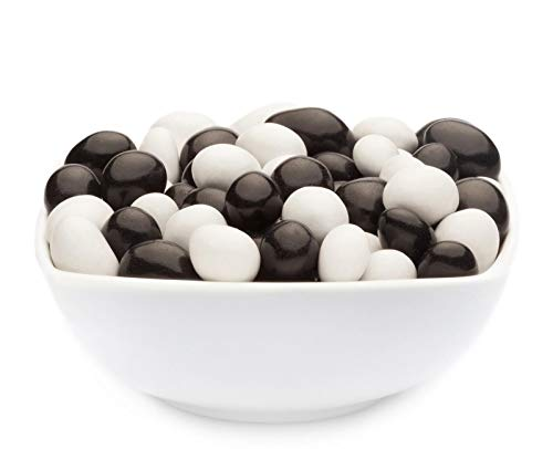 CrackersCompany 'White & Black Peanuts' (1 x 950g in Membrandose groß) Vollmilchschokonüsse Weiß und Schwarz - Erdnuss weiß und schwarz in Vollmilchschokolade