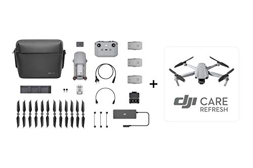 DJI Mavic Air 2 Fly More Combo & Auto-Activated DJI Care Refresh Bundle-Drone Quadcopter UAV with 48MP Camera 4K Video 1/2' CMOS Sensor 3-Axis Gimbal 34min Flight Time ActiveTrack 3.0, Gray