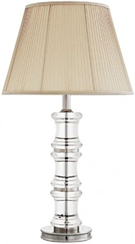 Casa Padrino Luxus Tischleuchte Nickel Durchmesser 16 x 40 x H 71 cm - Luxus Leuchte B01N78SWC6 | Hochwertige Materialien