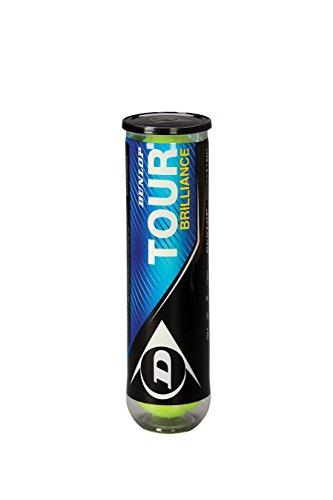 Dunlop Tennisbälle Tour Brilliance 4er, Gelb, One size