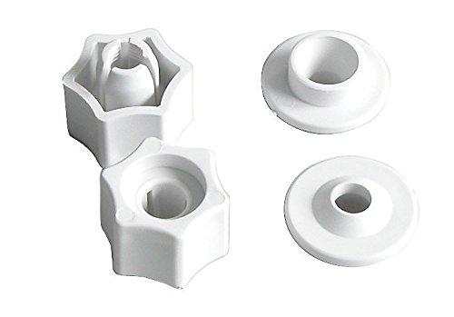 SITZPLATZ® WC-Sitz Befestigung | Schnell-Befestigung | Set | Scharniere | Kunststoff