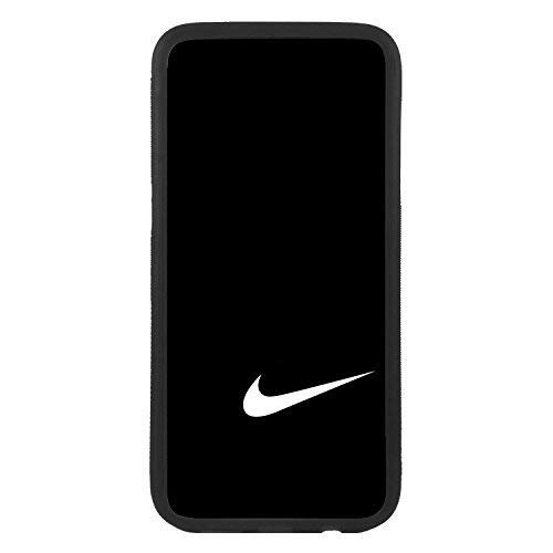 custom-cases Funda Carcasa de TPU para movil con diseño de Nike Negra Logotipo Compatible con Samsung S6 Edge Plus