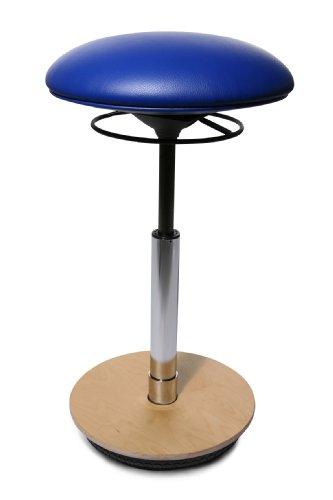 Topstar ST60S18 Drehhocker Sitness 26 / Bezugstoff royalblau / Fussplatte Holz
