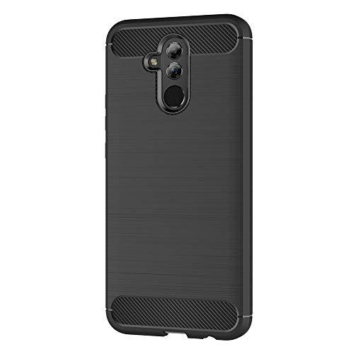 AICEK Hülle Compatible Huawei Mate 20 Lite, Schwarz Silikon Handyhülle für Huawei Mate 20 Lite Schutzhülle Karbon Optik Soft Case (6,3 Zoll) - 2