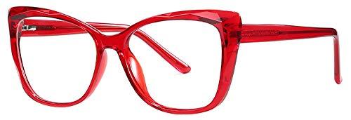REAVEE Blue Light Blocking Glasses Frames Ladies Stylish Cat Eye Eyeglasses Anti Blue Ray Computer Glasses,Non-Prescription Fake Glasses,Red