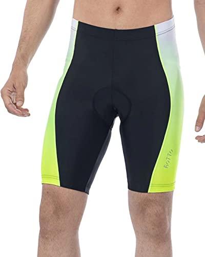 ROTTO Pantaloncini Ciclismo Uomo Pantaloncini MTB Bici con Imbottiti Gel Confortevole