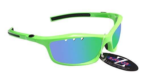 Rayzor profesionales ligeros UV400 Verdes Deportes Wrap cicl