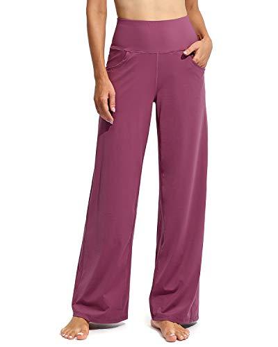 G4Free Pantalones Deportivos de Yoga para Mujer Pantalones Suaves Largos Cortos Estiramiento de Cintura Alta con Bolsillos para Correr