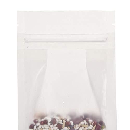 Sacchetto ottagonale con chiusura a pressione, custodia protettiva, con chiusura lampo, sacchetto sigillato per conservanti alimentari, adatto per liquidi di caramelle, 50 pezzi uno