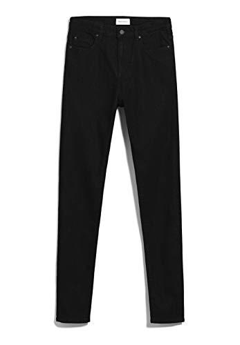 ARMEDANGELS INGAA X Stretch - Damen Jeans aus Bio-Baumwoll Mix 28/32 Black Night Denims / 5 Pockets Skinny Skinny Fit