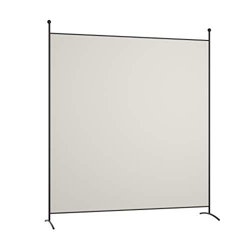 COSTWAY Raumteiler Paravent 180x186cm, Trennwand Stellwand mit Stützfuß, Sichtschutz Wand Wandschirm tragbar (Beige)