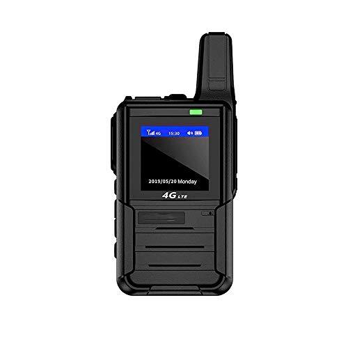 Z-Color Mini estación de Radio walkie Talkie CB 10KM 128CH VHF UHFDual UV de Banda 5r Radio de Dos vías, 6800mAh USB de Carga rápida Directa, for la Familia, Inicio (Negro)