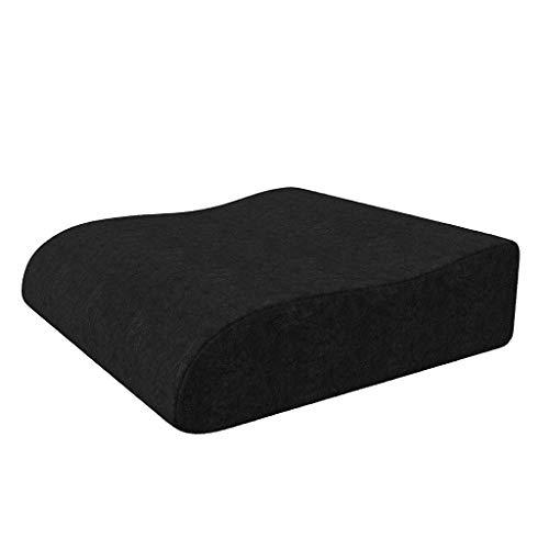 Shushi Plus Cashmere Zitkussen, Schuimstoelkussen, Ergonomisch wigkussen met hoog zitcomfort en zitkussen, voor ondersteuning van de stoel Shushi