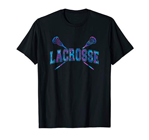 Lacrosse Shirt Girls Boy Tie-dye Crossed Sticks Cool T-shirt