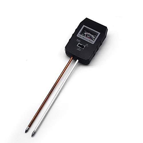 Probadores de la tierra El pH del suelo del medidor, herramienta de prueba de 3-en-1 pH del suelo medidor de humedad Luz kits de prueba de agua, de plantas al aire libre de interior ( Size : Negro )