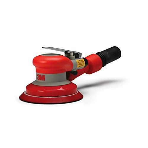 "3M Random Orbital Sander – Self Generated Vacuum Sander – 5"" x 3/16"" Diam. Orbit – Pneumatic Palm Sander – Hook and Loop Pad – For Wood, Composites, Metal – Original Series"