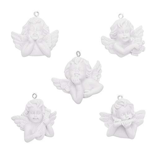 DanLingJewelry - Ciondoli in resina a forma di angelo in miniatura, 20 pezzi