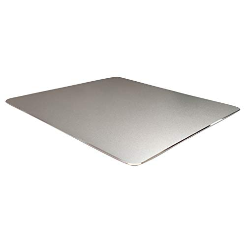 Metal Aluminum Mouse Pad for Economic,Smooth Magic Ultra Thin Double Side Mouse Mat,Non-Slip Rubber Base Mousepad for Computer & PC and Office( Small Size 8.66×7.08 inches ,Silver)