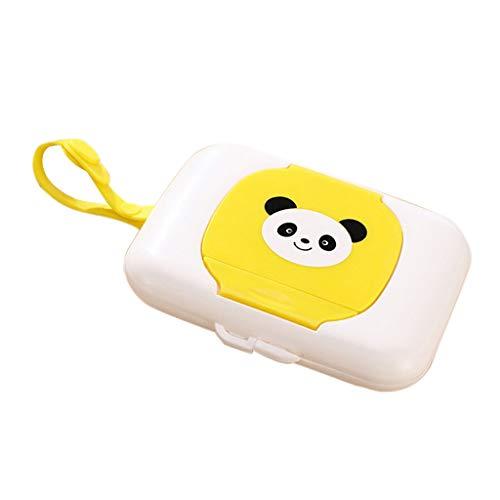 PETSOLA Estuche De Plástico Seco Caja De Almacenamiento Estuche De Plástico Estuche De Tejido Baby Wipe Prensa Pop Up - Amarillo