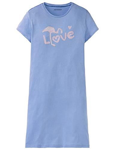 Schiesser Mädchen Sleepshirt 1/2 Nachthemd, Blau (Hellblau 805), 152 (Herstellergröße: S)