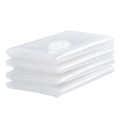 DOITOOL 4St Transparent Vakuumpåse Sparing Kläder Förvaringsväska Kompressionspåsar För Förvaring Paketresor Organiserad Väska För Kläder (70X50cm)
