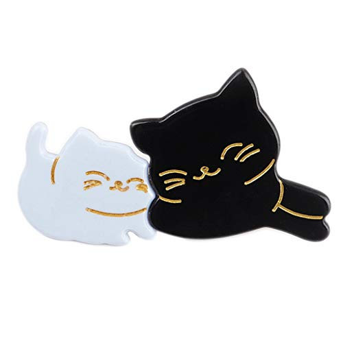 niumanery Japanese Cute Mom Kids Meow Cat Duckbill Hair Clip Sweet Girls Fancy Acetic Acid Contrast Color Hairpins Side Bangs Barrettes Black