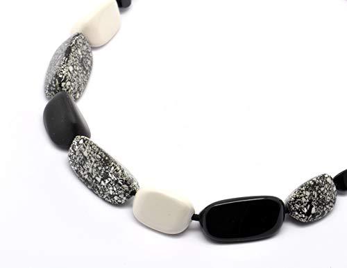 Culture Mix Halskette Schwarz, Grau und Weiß