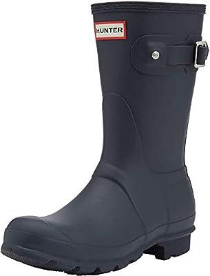 Hunter Womens Original Short Navy Matte Rain Boot - 7 B(M) US