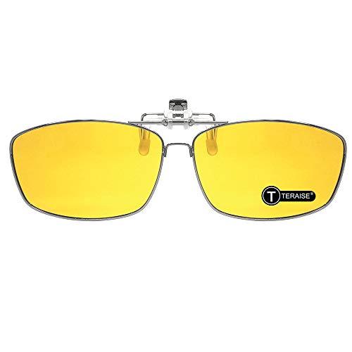 TERAISE Clip En Gafas De Conducir Nocturnas/Clip Para Hombres En Gafas De Sol Con Función Abatible Para Conducir Deportes Al Aire Libre ⭐