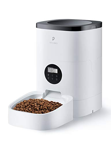 PETLIBRO Comedero automático para gatos y perros de 4 l con control de porciones programable de 1 a 4 comidas al día y grabación de voz de 10 segundos para mascotas pequeñas y medianas