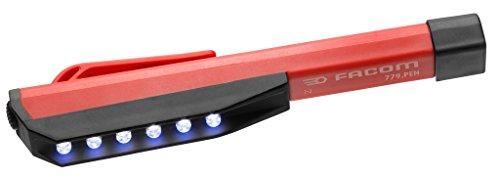 Facom 779.PEN Linterna de Bolsillo con Leds, Rojo