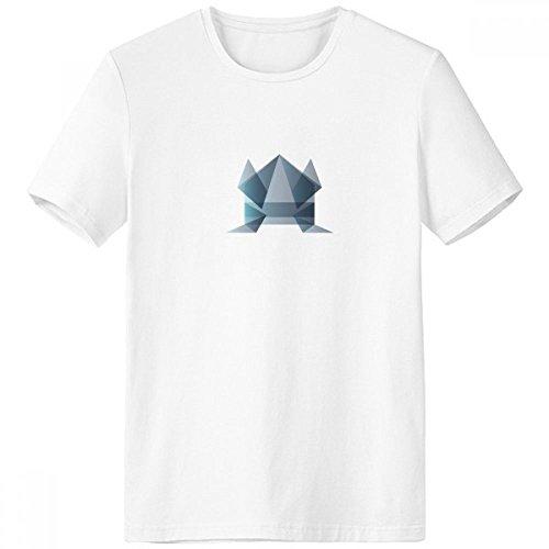 DIYthinker Rana Origami Abstracto Forma geométrica con Cuello Redondo de la Camiseta Blanca de Manga Corta Comfort Deportes Camisetas de Regalos - Multi -