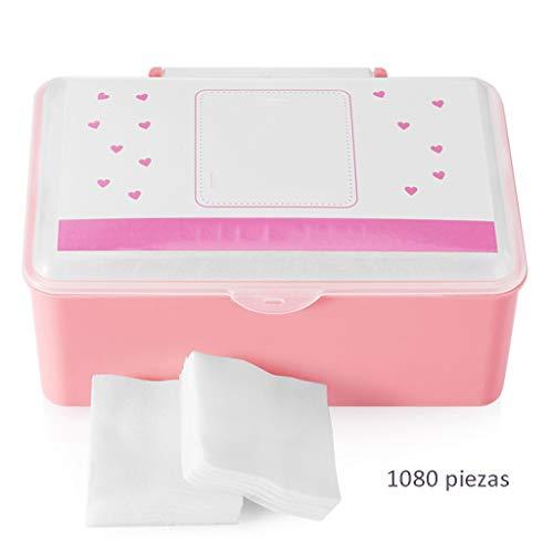 DUOER HOME Gesichtsmake-up Entferner Baumwolle Baumwolle Reinigung Baumwolle weibliches Gesicht sauber wattepad quadratisch wattepad dünn feuchtigkeitsspendende nass Dress Box (1080)