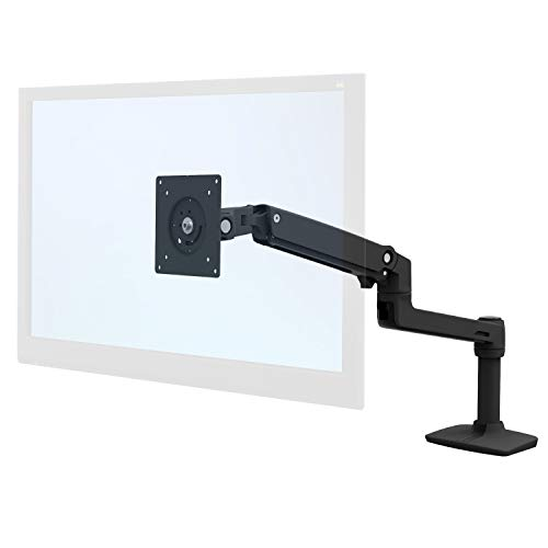 Ergotron Mounting Arm for Monitor - 34' Screen Support - 24.91 Lb Load Capacity - Matte Black