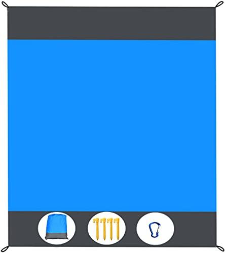 Coperta da Spiaggia Coperte da Picnic Leggere Tappetino da Spiaggia Impermeabile Senza Sabbia per Spiaggia, Picnic, Viaggi, attività All aperto 210 x 200 cm