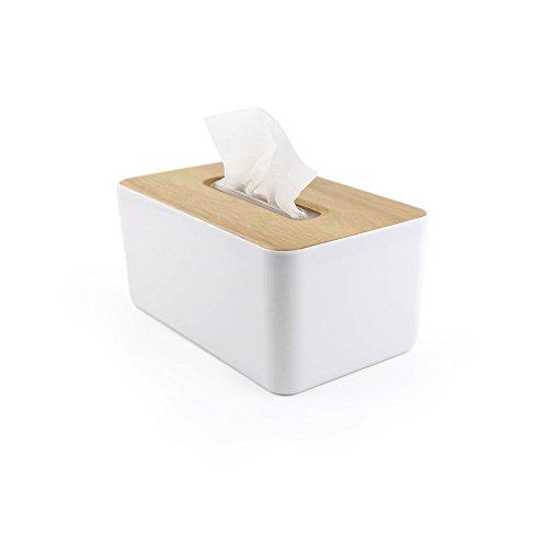 Taschentuchbox Holz Taschentücher Kosmetiktücher Box Taschentücher Papierbox Aufbewahrungsbox JINSANSHUN Papiertuchspender Taschentuchspender