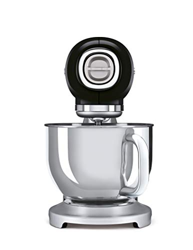 Smeg SMF02BLEU - Robot de cocina (4,8 L, acero 18/10), color negro