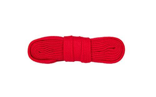 WorkerWalker Flache Schnürsenkel für Sicherheitsschuhe, hergestellt in Europa aus strapazierfähiger Modacryl-Baumwollfasermischung, STR Laces PRO, 1 Paar (31 - Rot/150 cm - 59 inch)